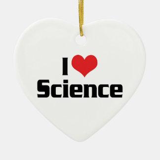 I Love Heart Science Ceramic Ornament