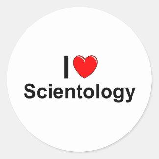 I Love (Heart) Scientology Classic Round Sticker