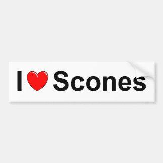I Love (Heart) Scones Bumper Sticker