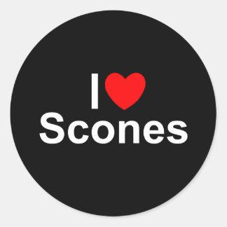 I Love (Heart) Scones Classic Round Sticker