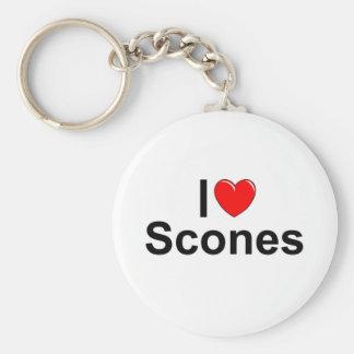 I Love (Heart) Scones Keychain
