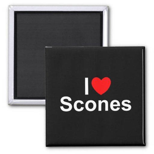 I Love (Heart) Scones Fridge Magnets