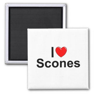 I Love Heart Scones Magnets