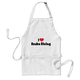 I Love heart Scuba Diving - Ocean Deap Sea Lover Adult Apron