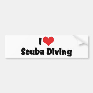 I Love heart Scuba Diving - Ocean Deap Sea Lover Bumper Sticker