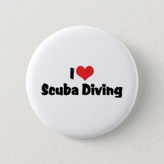 I Love heart Scuba Diving - Ocean Deap Sea Lover Button
