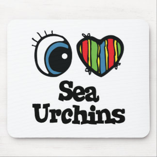 I Love (Heart) Sea Urchins Mouse Pad