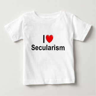 I Love (Heart) Secularism Baby T-Shirt
