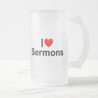 I Love (Heart) Sermons Coffee Mug