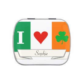I Love Heart Shamrock Ireland Candy Tins at Zazzle