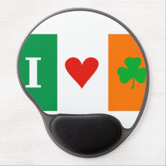 I Love Heart Shamrock Ireland Gel Mouse Pad
