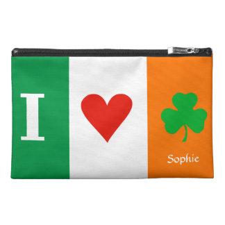 I Love Heart Shamrocks Ireland Travel Accessory Bags