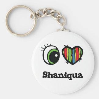 I Love (Heart) Shaniqua Keychain