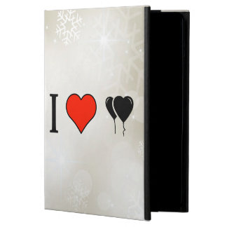 I Love Heart Shaped Balloons Cover For iPad Air