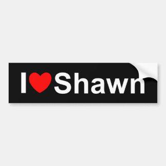 I Love (Heart) Shawn Bumper Sticker
