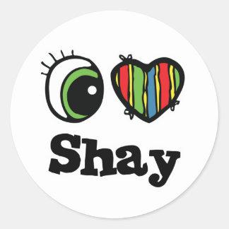 I Love (Heart) Shay Classic Round Sticker