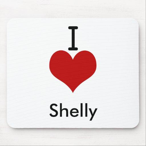 I Love (heart) Shelly Mouse Pad