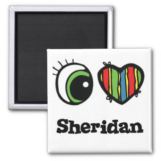 I Love (Heart) Sheridan Magnet