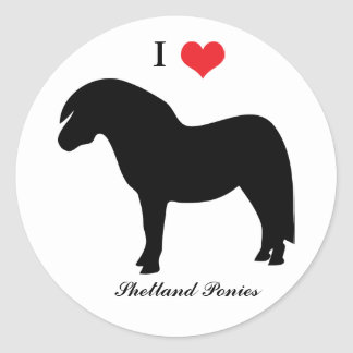 I love heart shetland ponies, sticker, stickers
