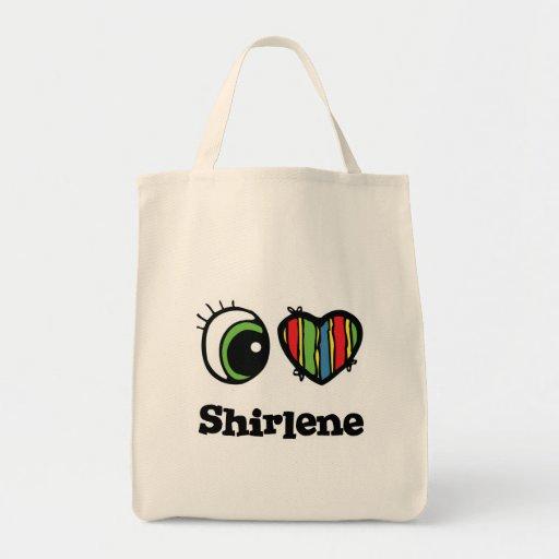 I Love (Heart) Shirlene Canvas Bags