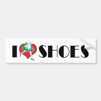 I Love Heart Shoes - Fashion Shoe Lover Bumper Sticker