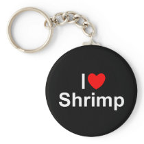 I Love (Heart) Shrimp Keychain