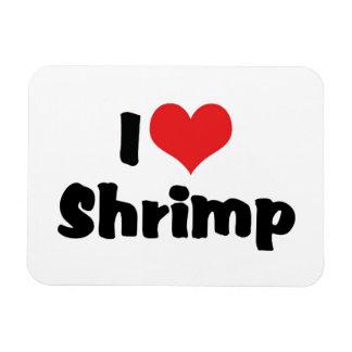 I Love Heart Shrimp - Sea Food Lover Magnet