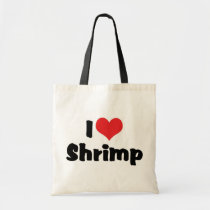 I Love Heart Shrimp - Sea Food Lover Tote Bag