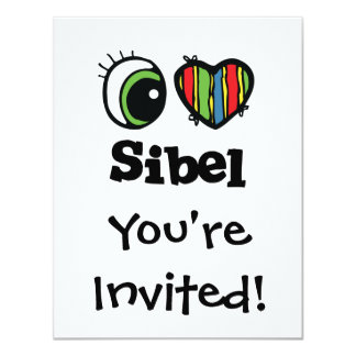 I Love (Heart) Sibel Card