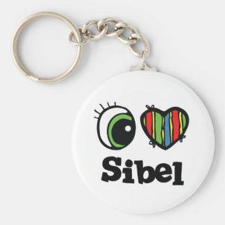 I Love (Heart) Sibel Keychain
