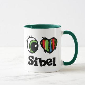 I Love (Heart) Sibel Mug