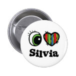 I Love (Heart) Silvia Pinback Button