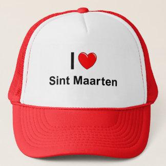I Love Heart Sint Maarten Trucker Hat