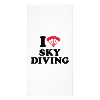 I love heart Skydiving Photo Card