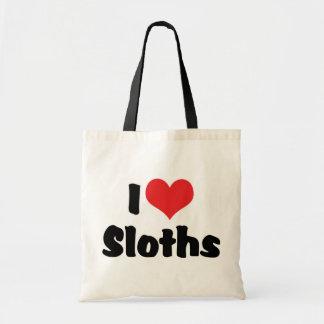 I Love Heart Sloths Tote Bag