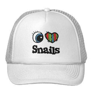 I Love (Heart) Snails Hats
