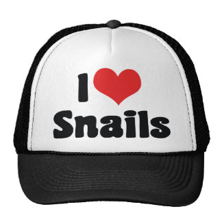 I Love Heart Snails Trucker Hat