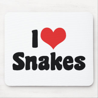 I Love Heart Snakes Mouse Pad