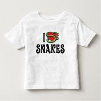 I Love Heart Snakes Toddler T-shirt