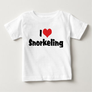 I Love Heart Snorkeling - Tropical Fish Lover Baby T-Shirt