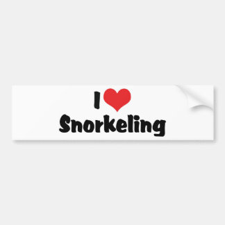 I Love Heart Snorkeling - Tropical Fish Lover Bumper Sticker