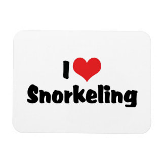 I Love Heart Snorkeling - Tropical Fish Lover Magnet