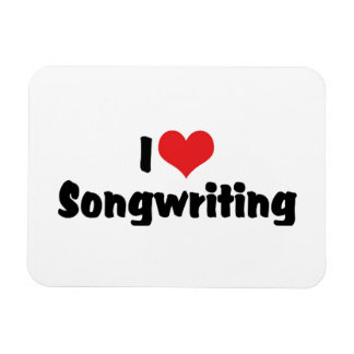 I Love Heart Songwriting - Song Writer Musician Magnet