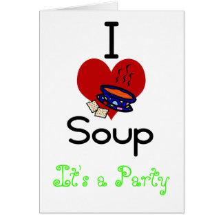 I love -heart  soup card