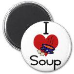 I love -heart  soup fridge magnet