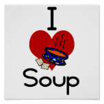 I love -heart  soup print