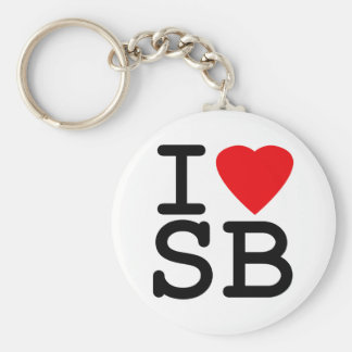I Love Heart South Beach Miami Keychain