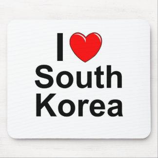 I Love Heart South Korea Mouse Pad