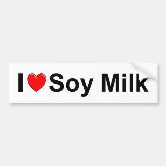 I Love Heart Soy Milk Bumper Sticker