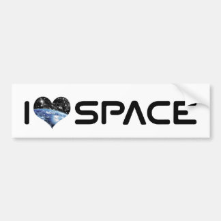 I Love Heart Space - Outer Space Astronomy Lover Bumper Sticker